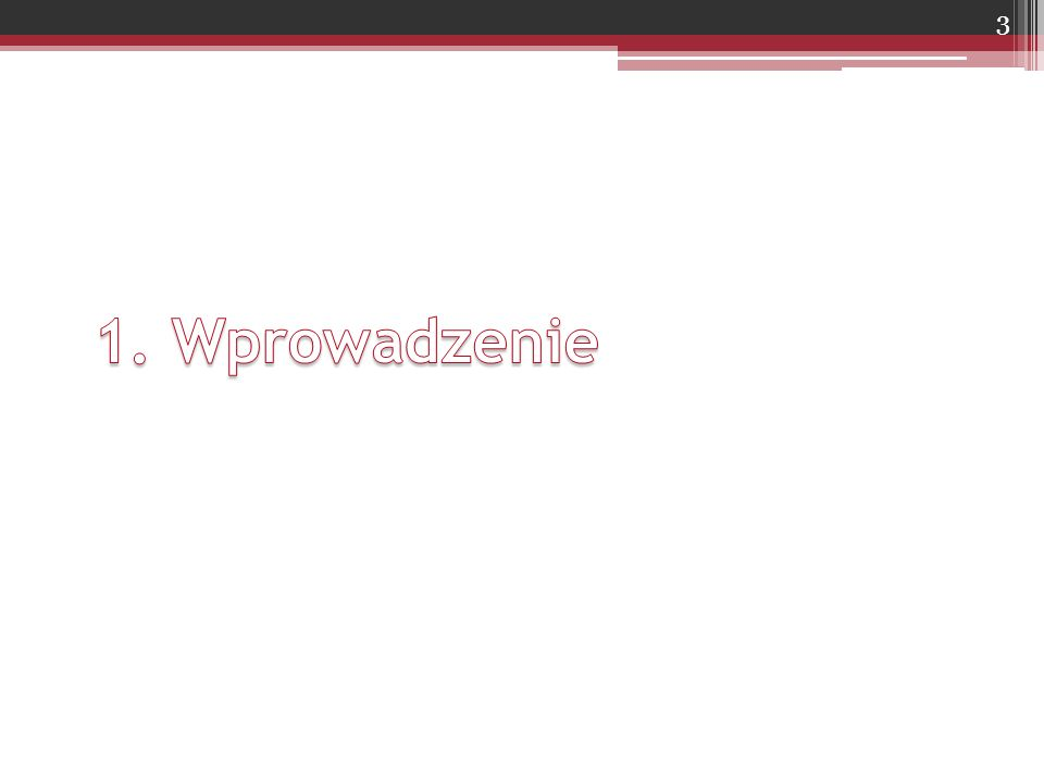 Układ tekstu na stronie 1800 znaków na stronie ▫30 wierszy i 60 znaków w wierszu Odstęp między wierszami: 1 ½ lub 2 Marginesy ▫Prawy, lewy, górny i dolny: 2,5 cm ▫Margines na oprawę: 0,5 cm Druk jednostronny ▫Szerszy margines lewy Druk dwustronny ▫strona nieparzysta - szerszy margines lewy ▫strona parzysta - szerszy margines prawy ▫lub szerszy margines 3 cm po obu stronach Około 94
