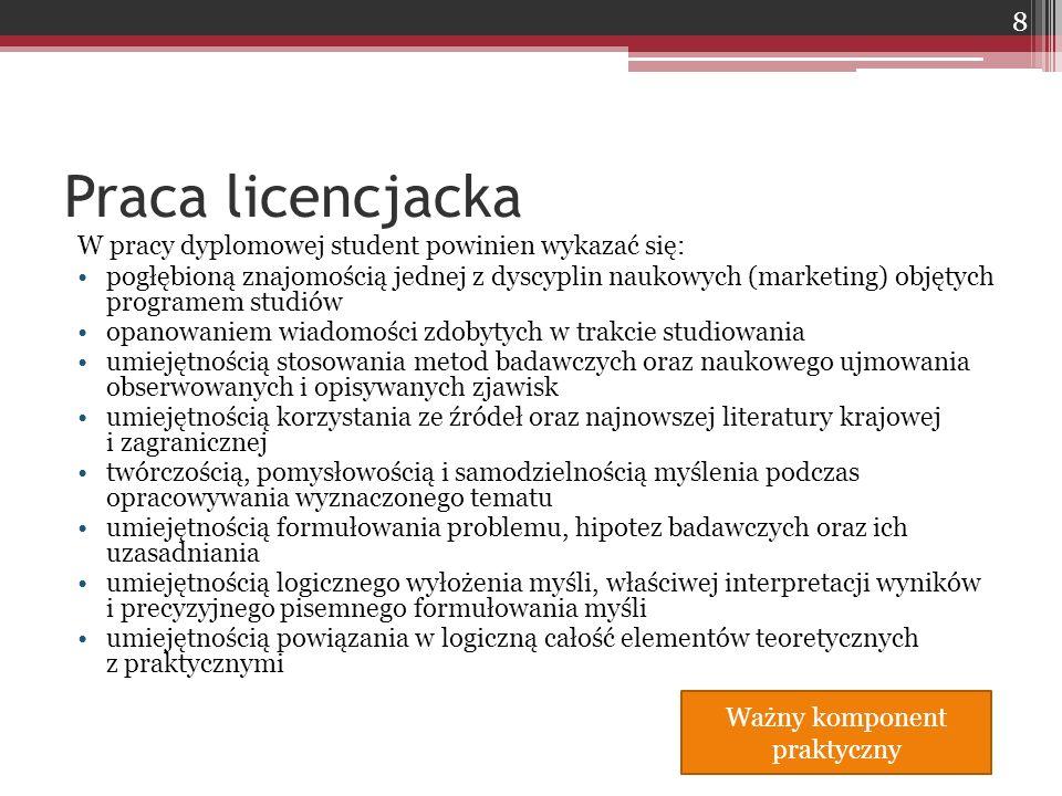 Problem podstawowy:  Określenie jakie rodzaje innowacji dominują i są podstawą rozwoju małych i średnich przedsiębiorstw działających na rynku polskim Problem uszczegóławiający:  określenie algorytmów postępowania dotyczących strategii marketingowych w ujęciu normatywnym dla polskich firm (z koncentracją na małych i średnich podmiotach) na rynkach zagranicznych, umożliwiających osiągnięcie sukcesu rynkowego Problemy badawcze – przykład 1 39