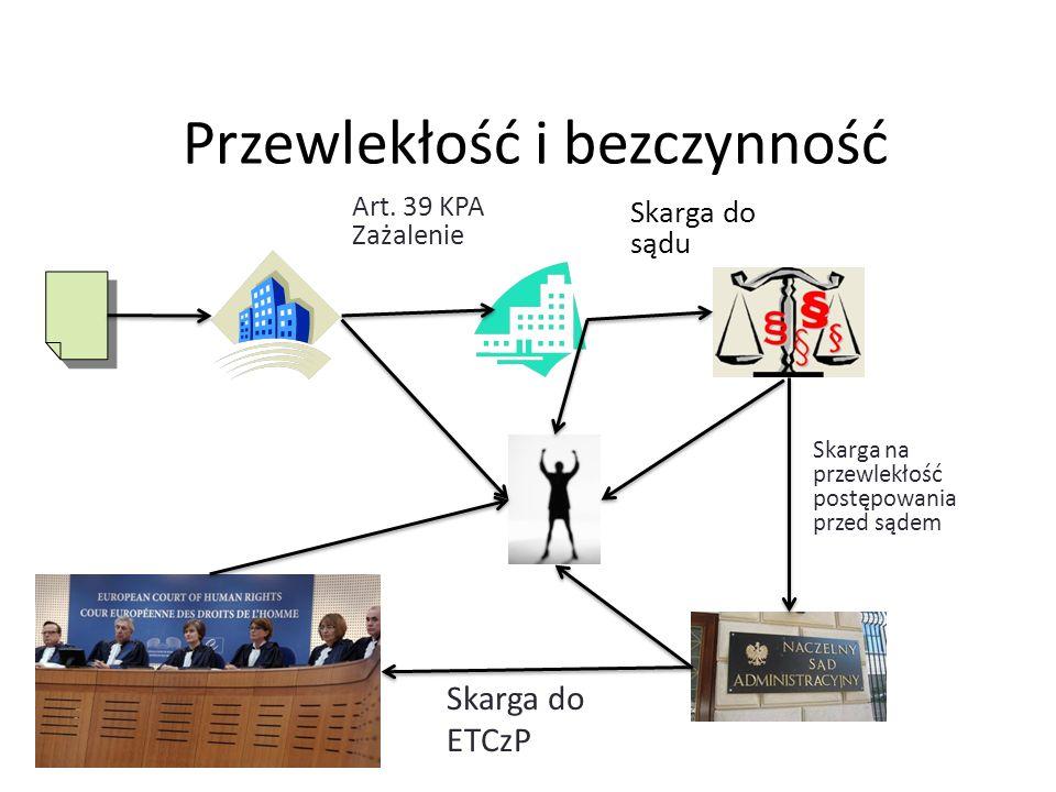 Przewlekłość i bezczynność Skarga do sądu Art. 39 KPA Zażalenie Skarga na przewlekłość postępowania przed sądem Skarga do ETCzP