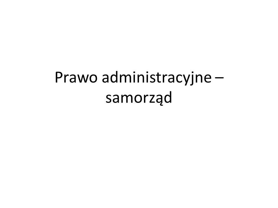 Prawo administracyjne – samorząd