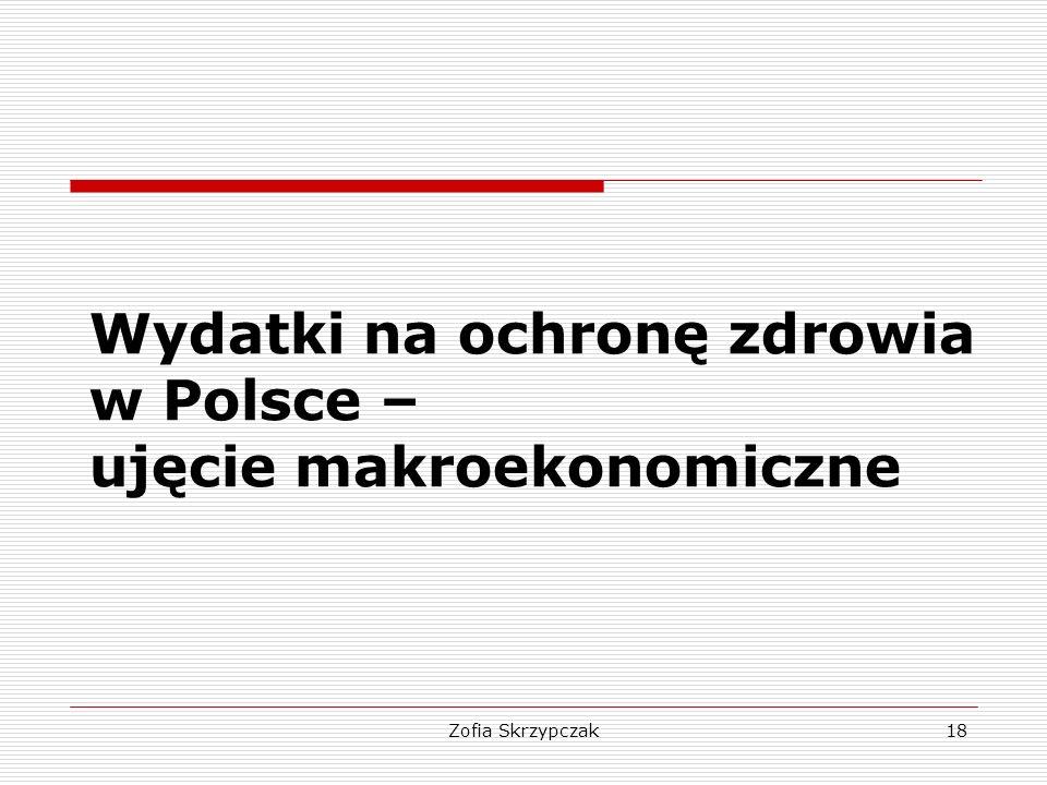 Zofia Skrzypczak18 Wydatki na ochronę zdrowia w Polsce – ujęcie makroekonomiczne