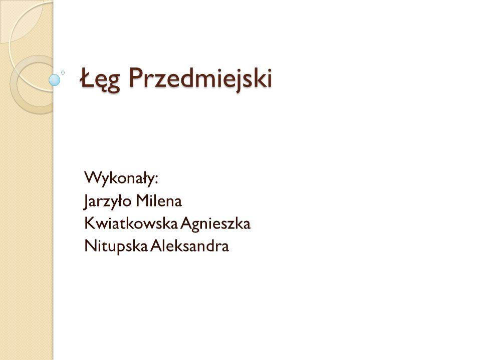 Łęg Przedmiejski Wykonały: Jarzyło Milena Kwiatkowska Agnieszka Nitupska Aleksandra