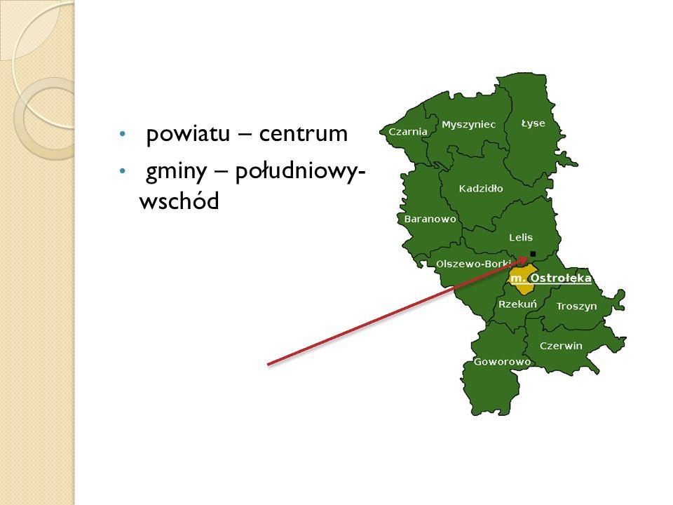 powiatu – centrum gminy – południowy- wschód