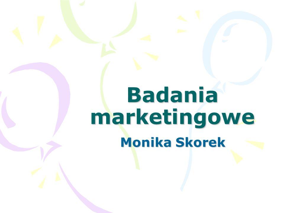 Badania marketingowe Monika Skorek
