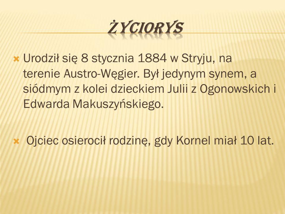  Urodził się 8 stycznia 1884 w Stryju, na terenie Austro-Węgier.