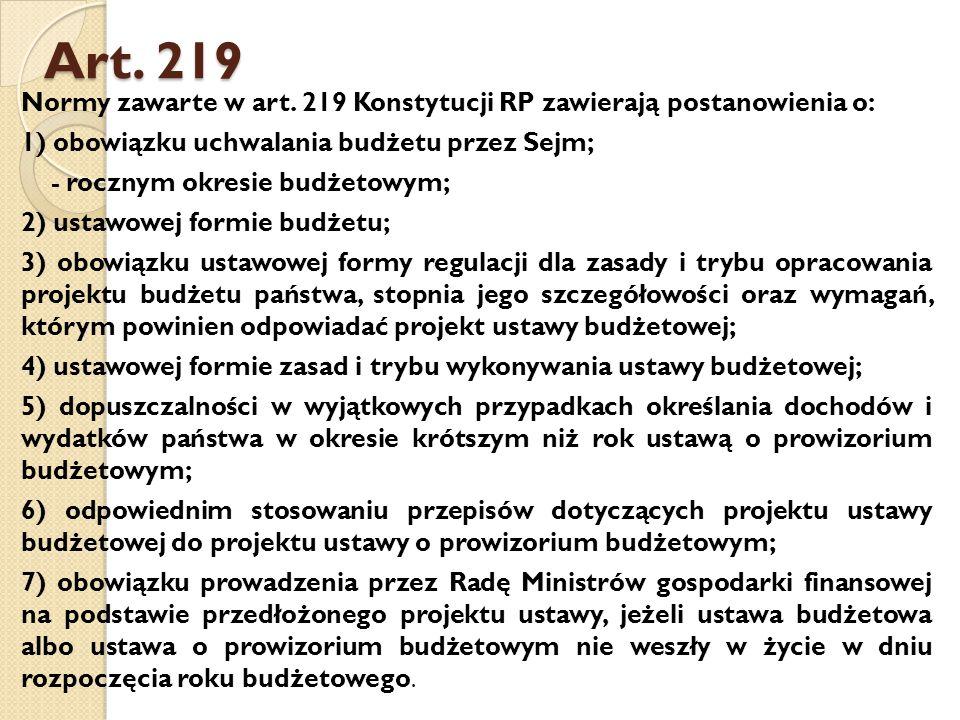 Art.219 Normy zawarte w art.