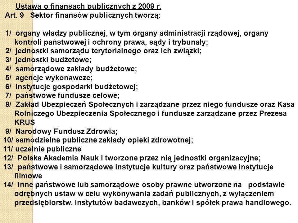 Ustawa o finansach publicznych z 2009 r.Art.