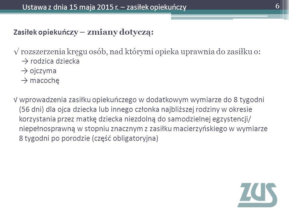Wystawienie zaświadczenia lekarskiego – Krok 1 27 Ustawa z dnia 15 maja 2015 r.