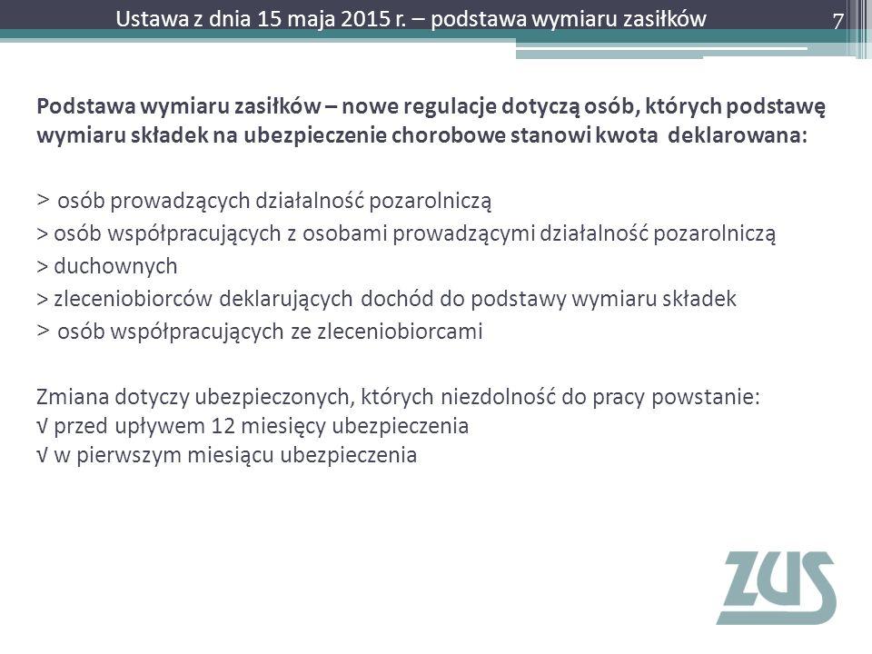 Wystawienie zaświadczenia lekarskiego – Krok 2 28 Ustawa z dnia 15 maja 2015 r.