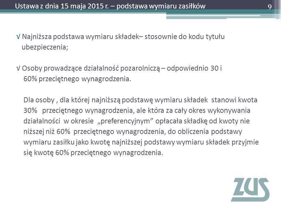 Wystawienie zaświadczenia lekarskiego – Krok 3 30 Ustawa z dnia 15 maja 2015 r.