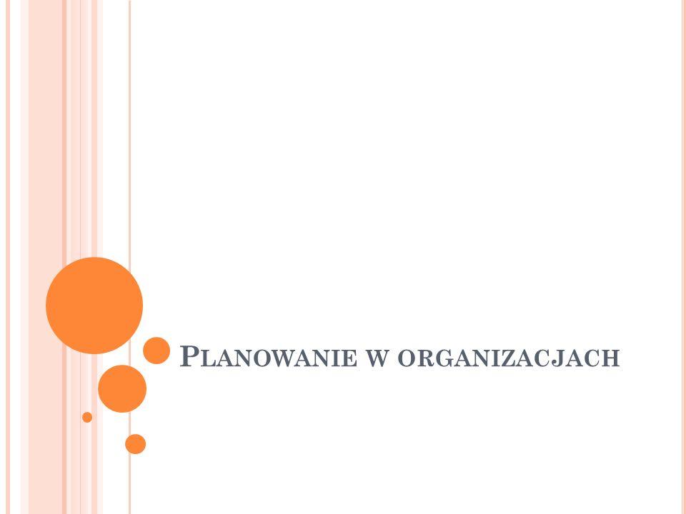 P LANOWANIE W ORGANIZACJACH