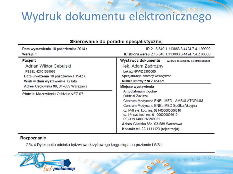 Wydruk dokumentu elektronicznego