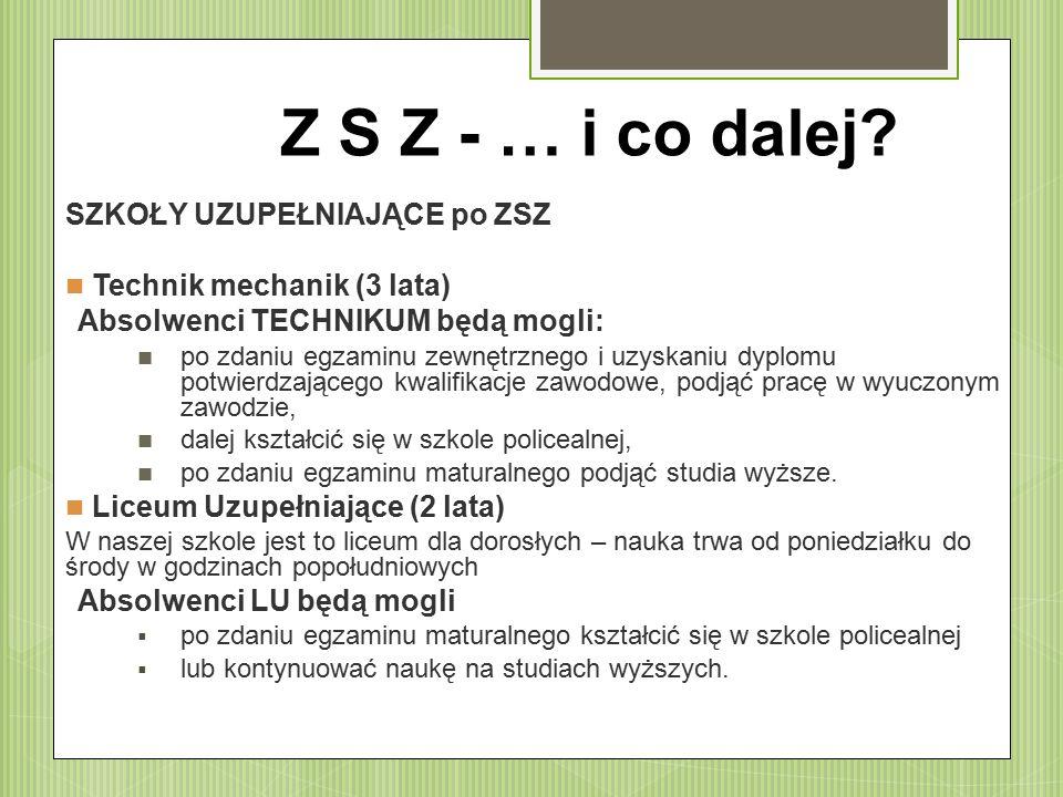 Z S Z - … i co dalej.