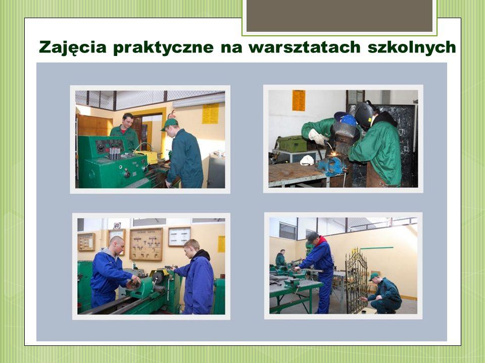 Zajęcia praktyczne na warsztatach szkolnych