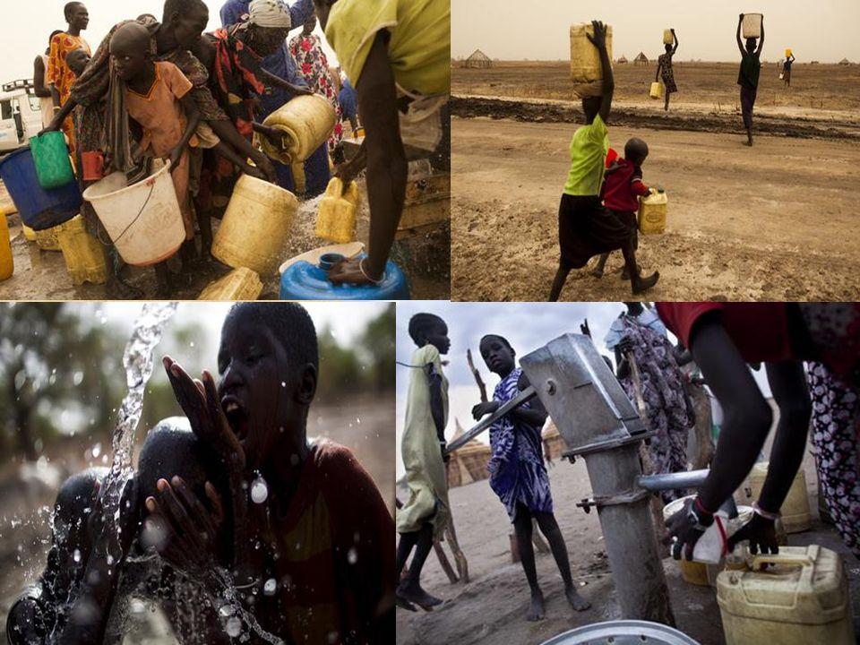 Ponad połowa ludności południowego Sudanu nie ma dostępu do wody pitnej. Tylko 6,4% ludności posiada dostęp do sanitariatów. Z powodu zbyt małej liczb