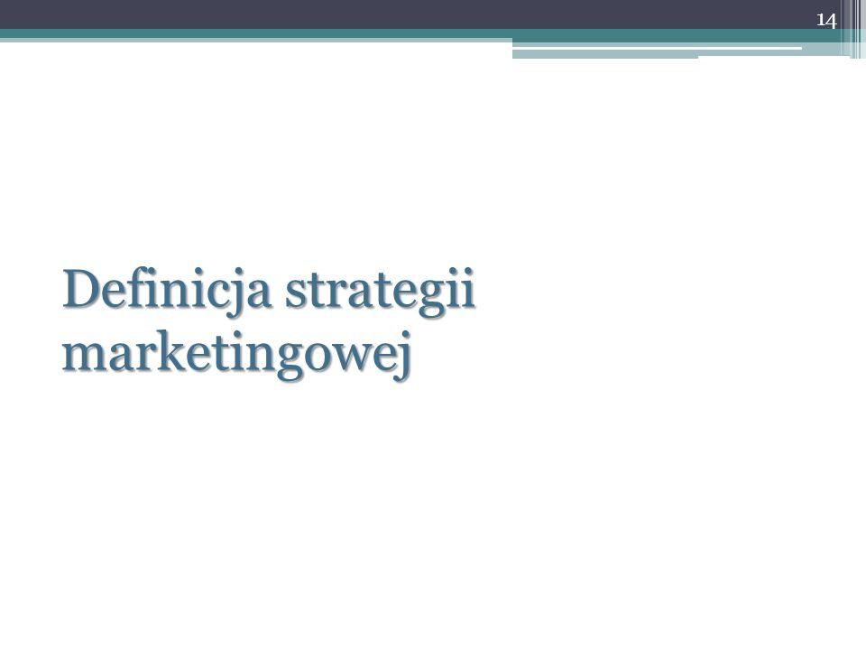 Definicja strategii marketingowej 14
