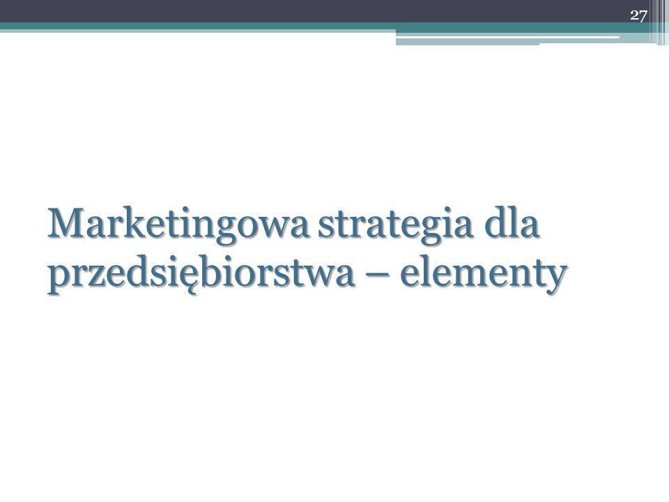 Marketingowa strategia dla przedsiębiorstwa – elementy 27
