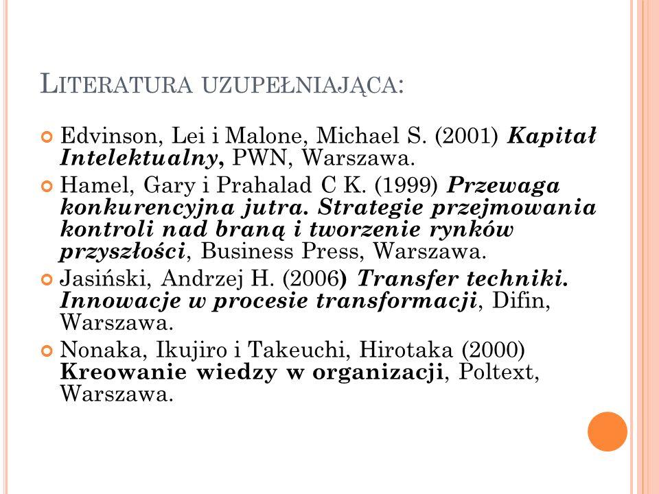 L ITERATURA UZUPEŁNIAJĄCA – C.D. Matusiak, Krzysztof B.