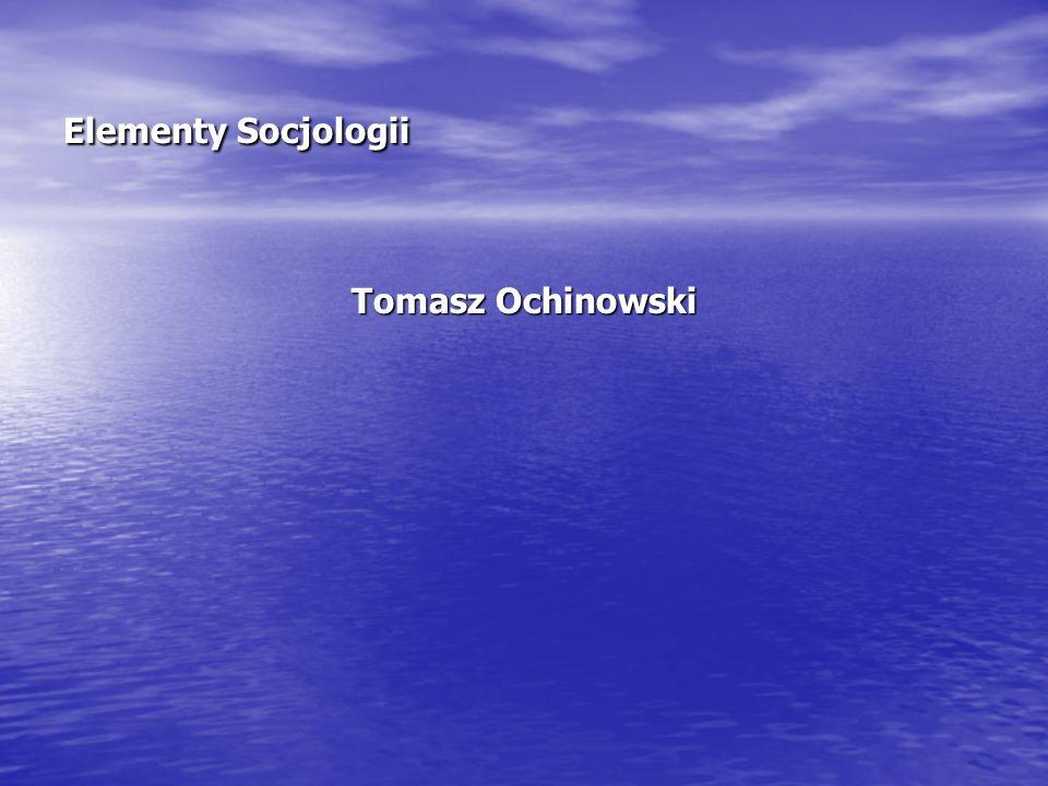 Tomasz Ochinowski dr psychologii, dr hab.