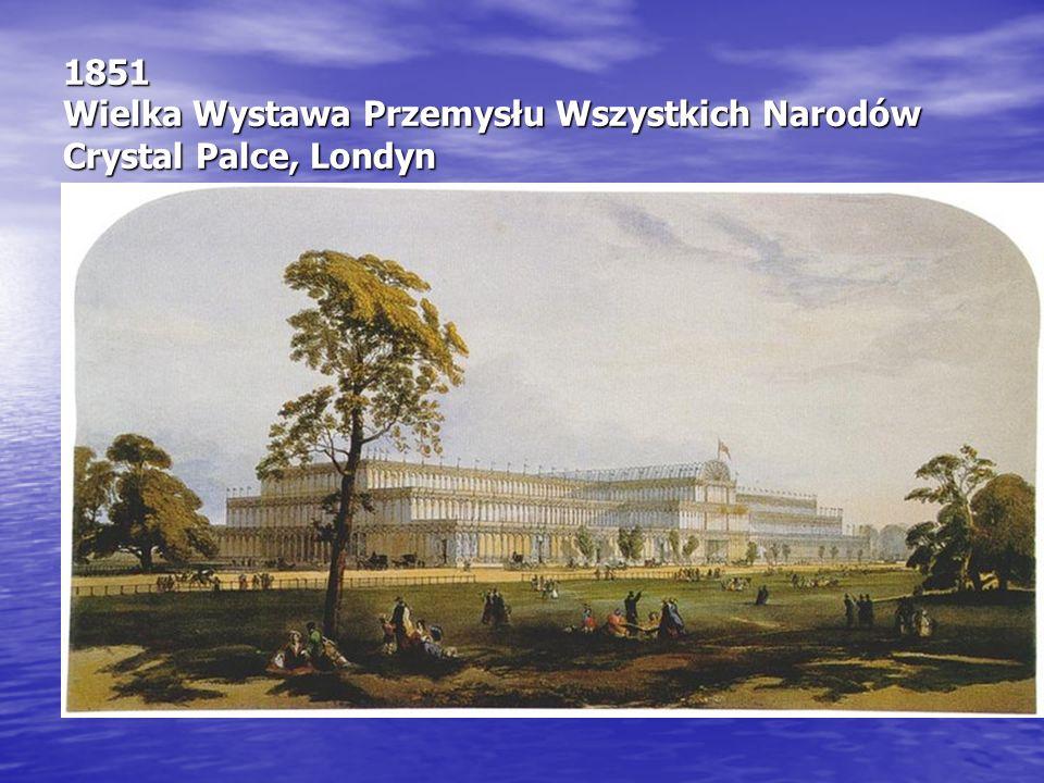 1851 Wielka Wystawa Przemysłu Wszystkich Narodów Crystal Palce, Londyn