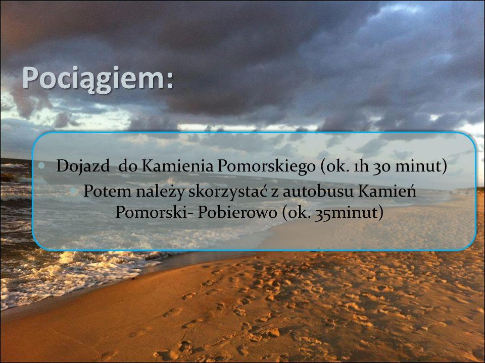 Pociągiem: Dojazd do Kamienia Pomorskiego (ok.