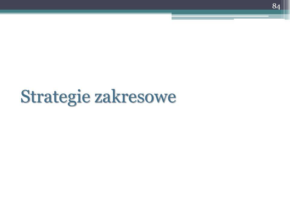 Strategie zakresowe 84