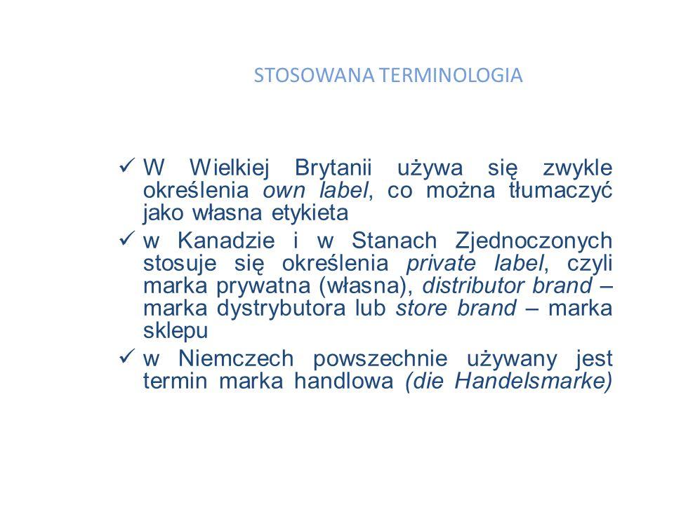 Marki dystrybutor ó w to produkty utworzone na zlecenie pośredników handlowych.