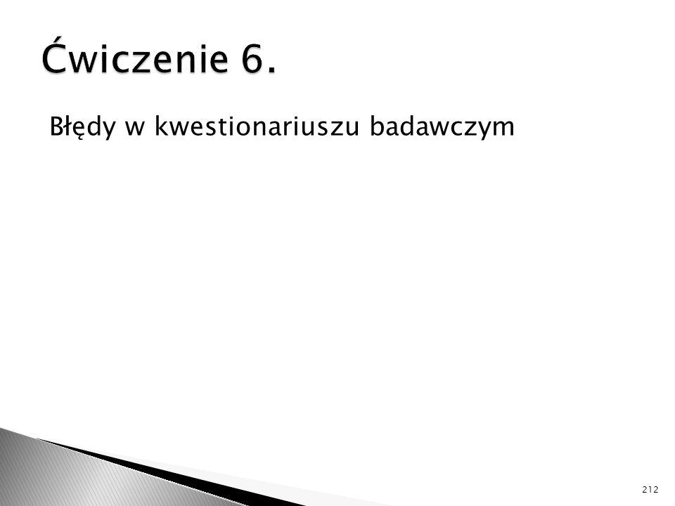 Błędy w kwestionariuszu badawczym 212