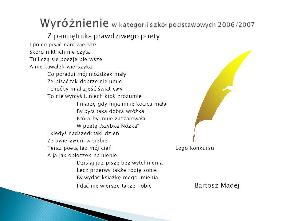 Z pamiętnika prawdziwego poety I po co pisać nam wiersze Skoro nikt ich nie czyta Tu liczą się poezje pierwsze A nie kawałek wierszyka Co poradzi mój