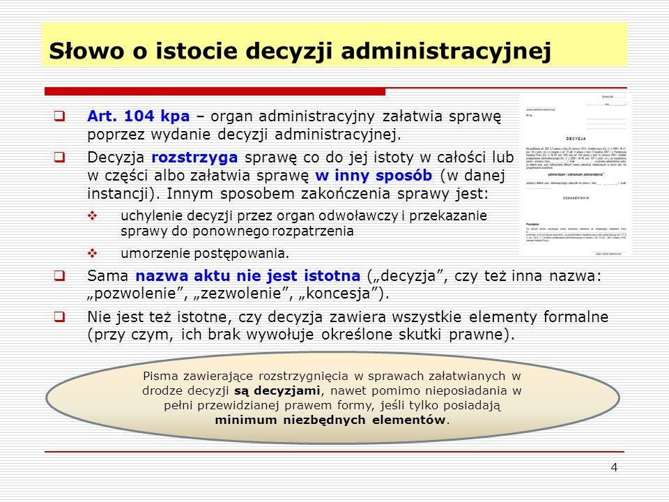 Słowo o istocie decyzji administracyjnej 4  Art.