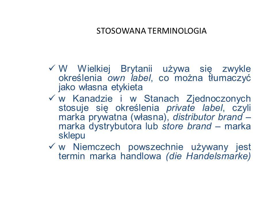 Marki dystrybutor ó w to produkty utworzone na zlecenie pośredników handlowych. Są one w wielu przypadkach powieleniem już istniejących od lat produkt