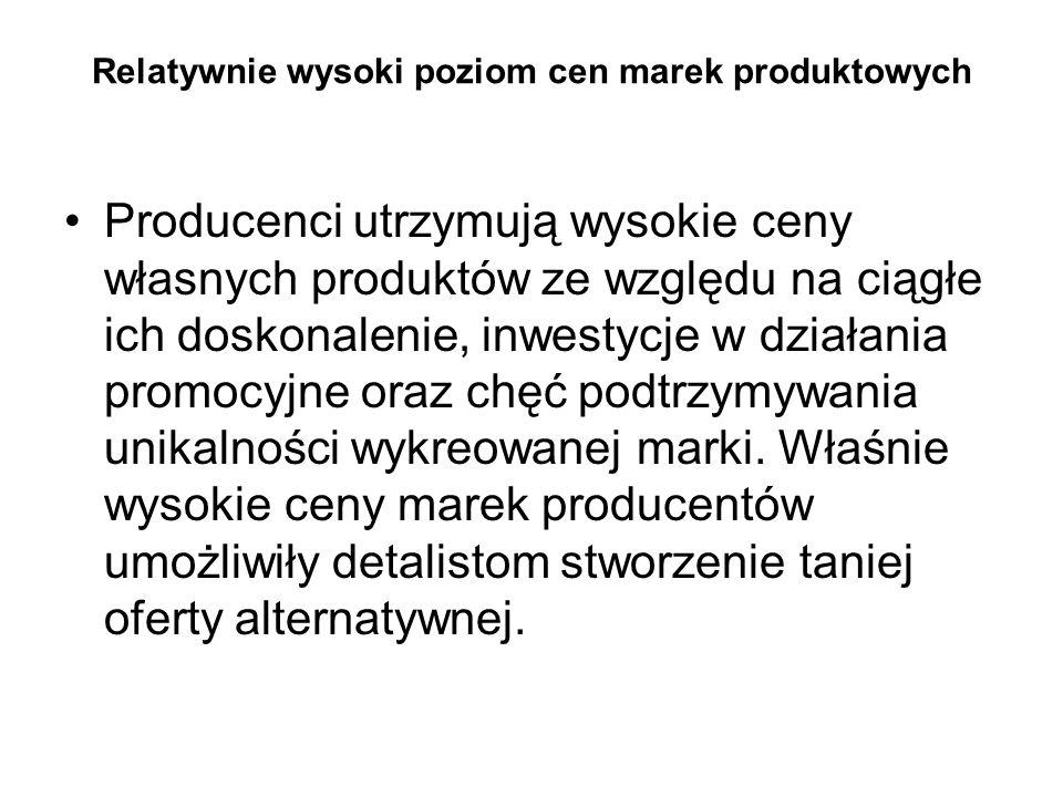 Niski stopień koncentracji podaży Rynek producentów w Polsce jest na tyle rozdrobniony, że wielu wytwórcom trudno jest samodzielnie zaistnieć na rynku ogólnokrajowym.