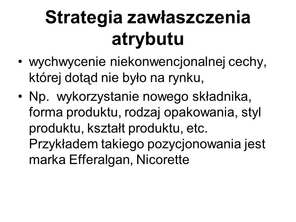 Strategia bycia pierwszym pierwszy wchodzący jest odbierany jako oryginalny, mający największą wiedzę i doświadczenie Np.