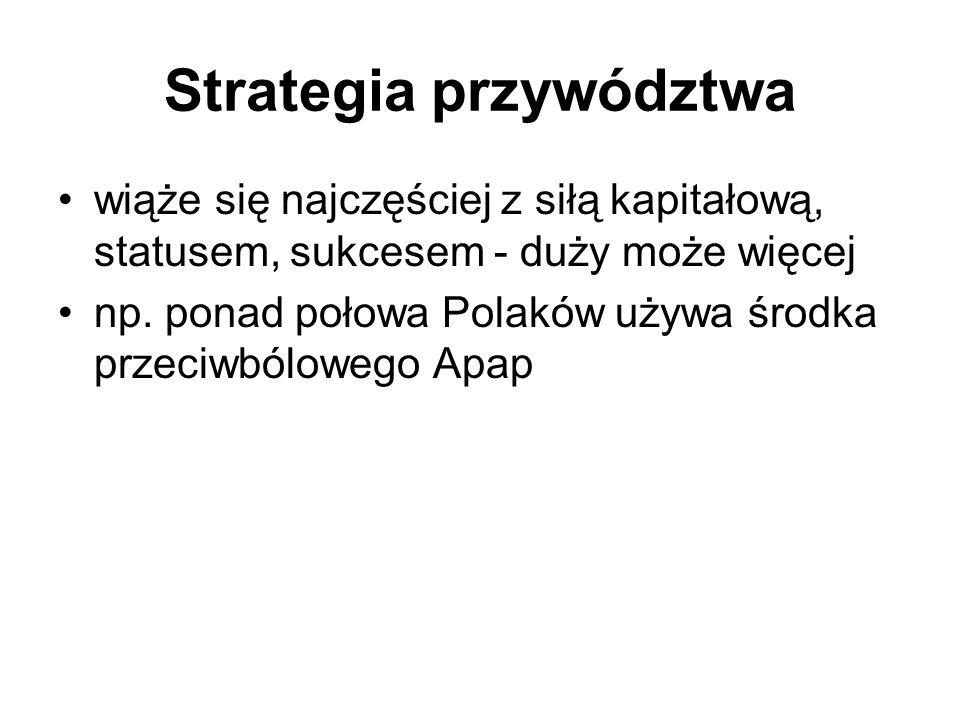 Strategia zawłaszczenia atrybutu wychwycenie niekonwencjonalnej cechy, której dotąd nie było na rynku, Np.