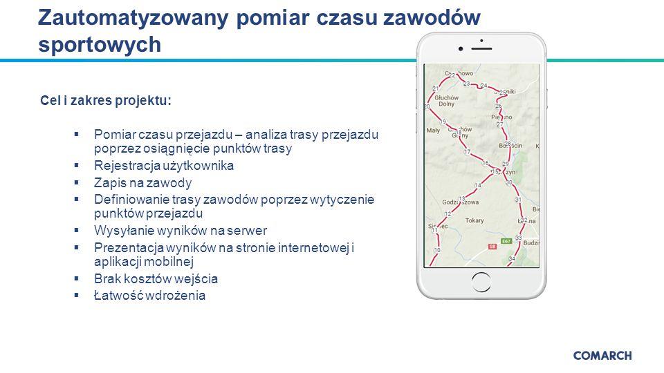 Dziękujemy za uwagę COMARCH al.Jana Pawła II 39 a 31-864 Kraków Tel.