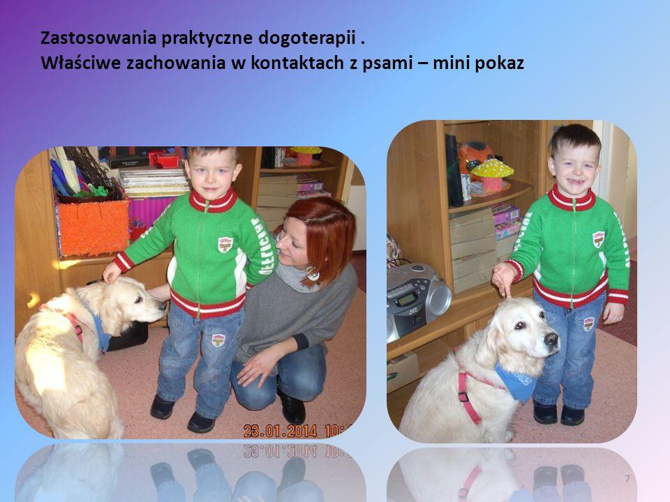 Zastosowania praktyczne dogoterapii. Właściwe zachowania w kontaktach z psami – mini pokaz 7
