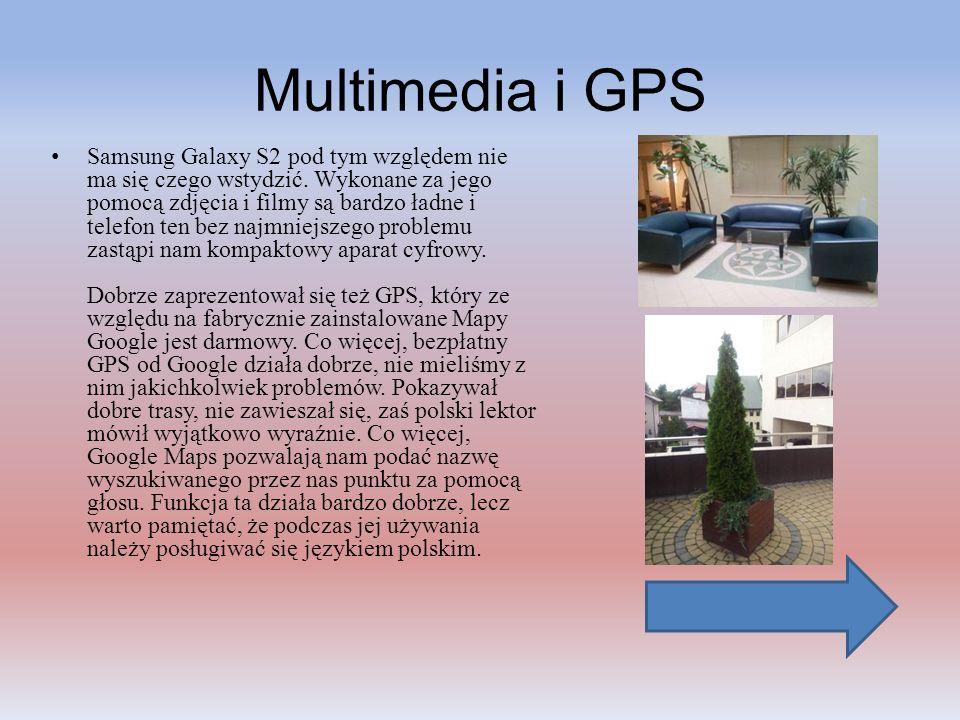 Multimedia i GPS Samsung Galaxy S2 pod tym względem nie ma się czego wstydzić. Wykonane za jego pomocą zdjęcia i filmy są bardzo ładne i telefon ten b