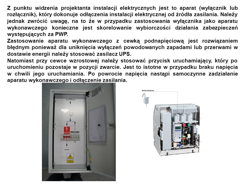Z punktu widzenia projektanta instalacji elektrycznych jest to aparat (wyłącznik lub rozłącznik), który dokonuje odłączenia instalacji elektrycznej od źródła zasilania.