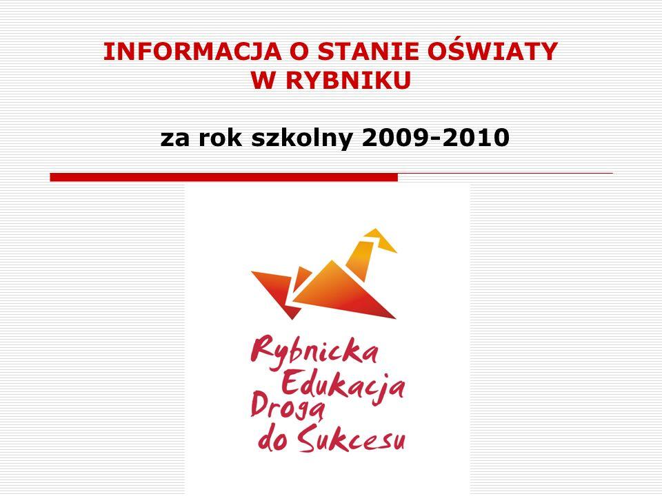 INFORMACJA O STANIE OŚWIATY W RYBNIKU za rok szkolny 2009-2010