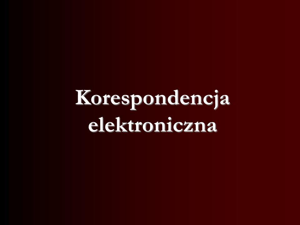 Korespondencja elektroniczna