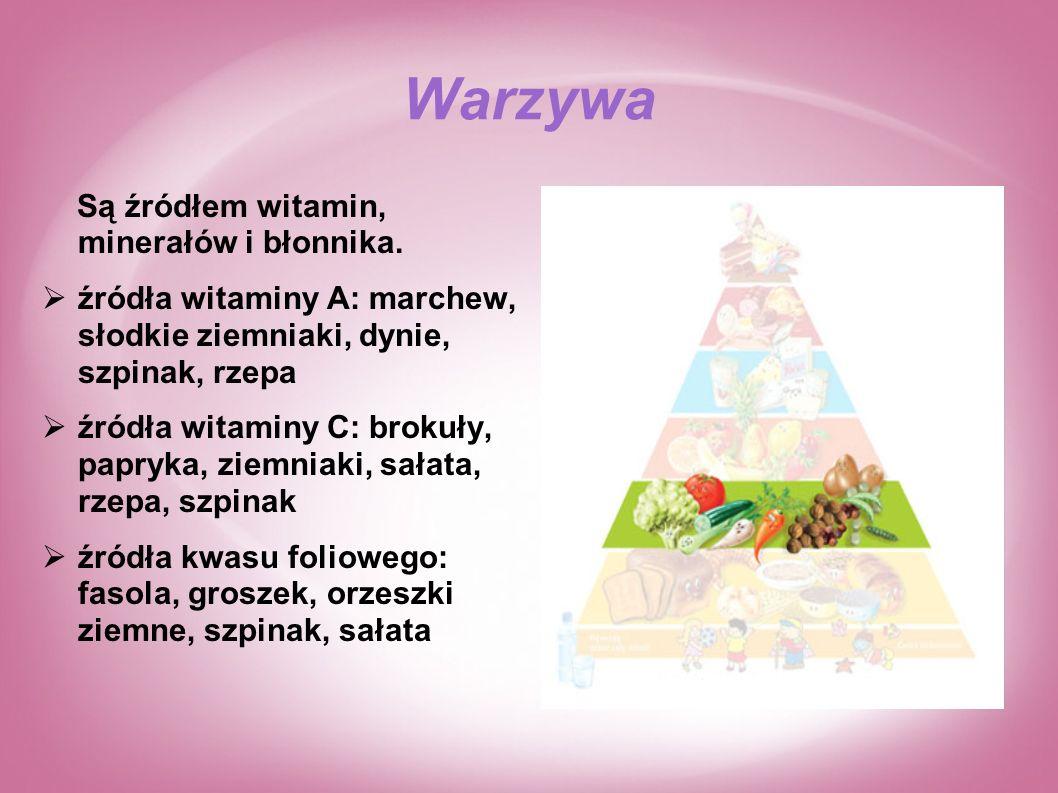 Warzywa Są źródłem witamin, minerałów i błonnika.