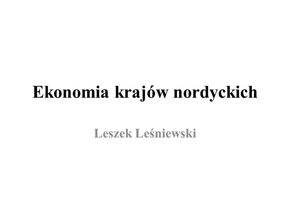 Ekonomia krajów nordyckich Leszek Leśniewski