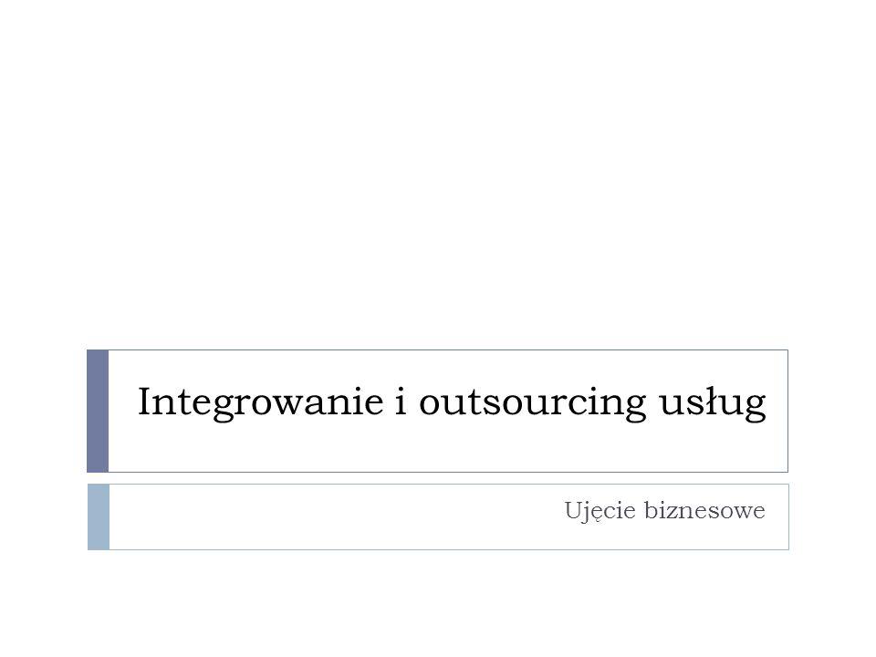 Integrowanie i outsourcing usług Ujęcie biznesowe