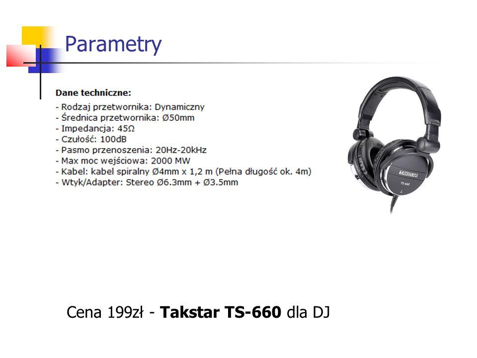 Cena 199zł - Takstar TS-660 dla DJ Parametry