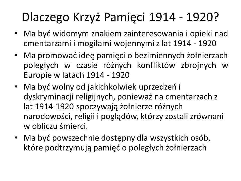 Kto może otrzymać Krzyż Pamięci 1914-1920.