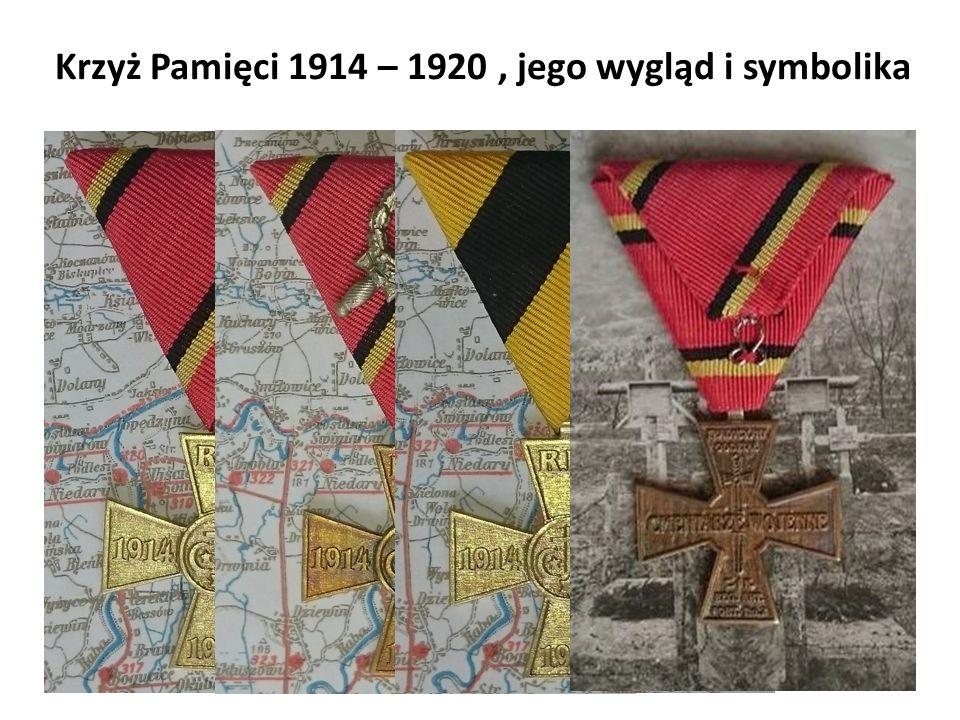 Krzyż Pamięci 1914 – 1920, jego wygląd i symbolika R.I.P. REQUIESCAT IN PACE SPOCZYWAJ W SPOKOJU