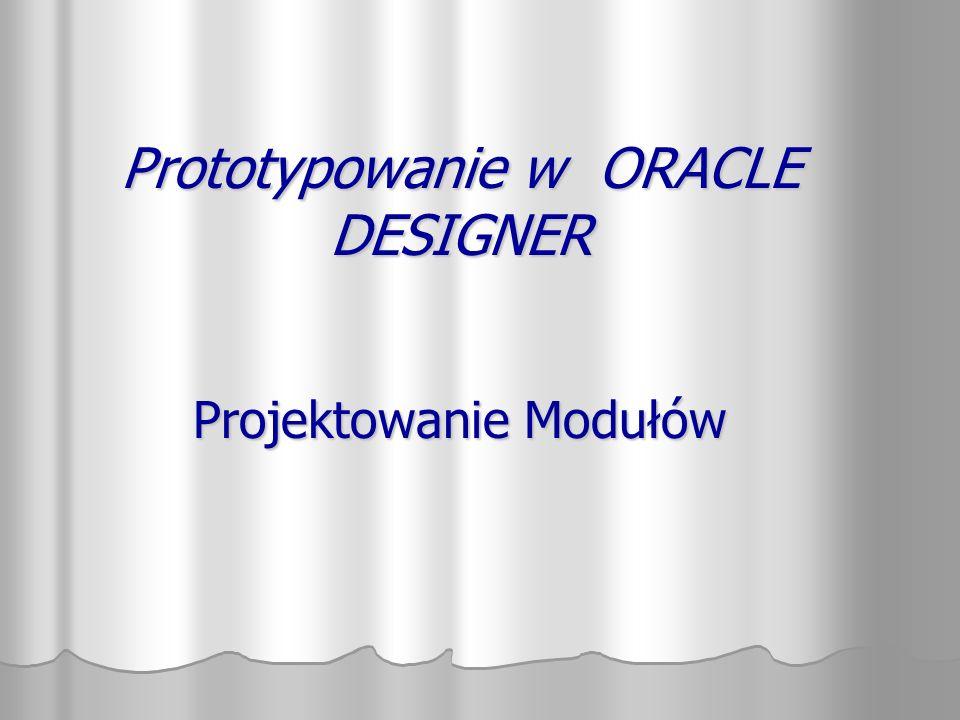 Tworzenie modułów w Nawigatorze Modules ORD0010 ORD0020 ORD0030 1.