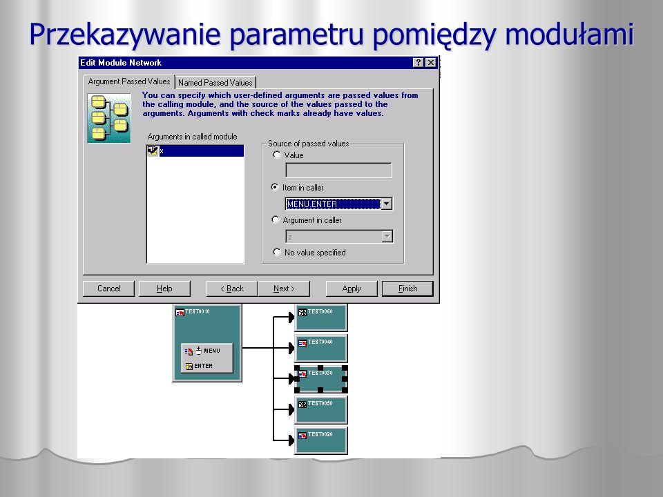 Przekazywanie parametru pomiędzy modułami