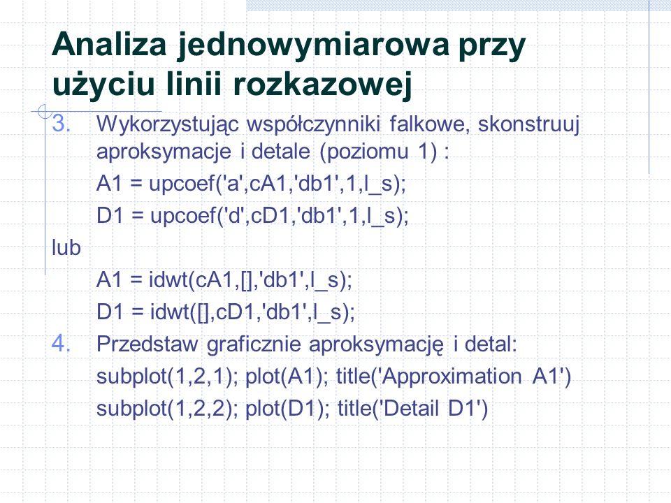 Analiza jednowymiarowa przy użyciu linii rozkazowej 3.