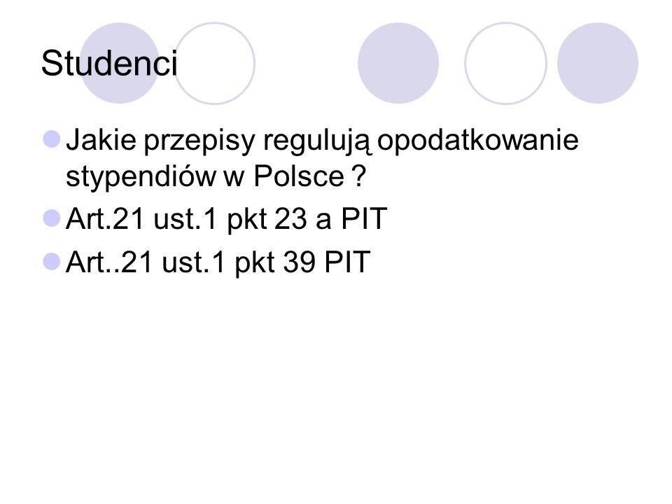 Studenci Jakie przepisy regulują opodatkowanie stypendiów w Polsce .
